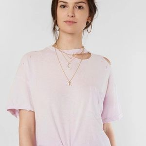 Free people lavender distressed t-shirt medium